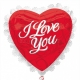 "Folija balons, 22""/55cm, I Love You!"
