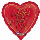 """Воздушный шар  из фольги, 18""""/45cm, I Love You"""