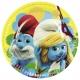 šķīvji ar attelu. Tema - Smurfs Movie,  22.8 cm, 8 gab