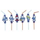 Трубочки для коктейля, Тема: Smurfs , 24 см, 8 шт.