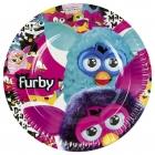 Тарелки с рисунком.Тема  - Furby, 22.8 см, 8 шт