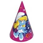 Cepurīte bērnu svētki Tēma: Smurfette 17.7cm 1 gab