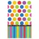 Бумажная скатерть с рисунком - Точки и Полосы - 1,37м Х 2,59м