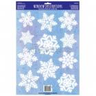 Виниловая декорация для оформления окон -снежинка, 45.7 см x 30.5 см
