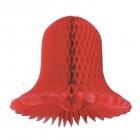 Бумажный колокольчик - 28 см, 2 шт. в упаковке, белый или красный