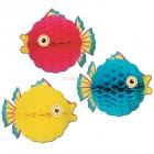 Подвесная объемная фигура -Тропическая рыбка, 30см