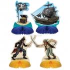 Объемная фигура -Пиратские фигурки, 4 шт 14 см