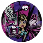 šķīvji ar attelu. Tema: Monster High, 23 cm  8 gab