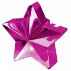 Zvaigžņu forma balonu svariņš, magenta