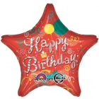 71cm folija zvaigzne, Happy Birthday