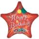 71 см  звезда из фольги, Happy birthday