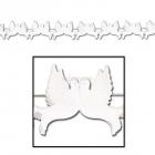 Бумажная гирлянда  - голуби, белая