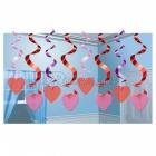 Piekarama dekorācija - 60cm sprialformas, a sirsniņu dekor 15.gab.