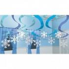 Снежинки из фольги со спиралями , 60 см, 15 шт. в упаковке