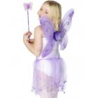 Taureņa spārni ar kociņu,violeti. Ar ziedu un spīdumiem.