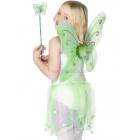 Крылья бабочки и волшебная палочка, цвет зелёный