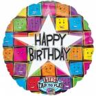 """Dziedāšanas muzikālās folijas balons Tema: Sejas 28""""/71cm"""