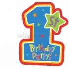 Пригласительная открытка на первый день рождения  8 шт.