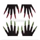Перчатки с длинными блестящими ногтями