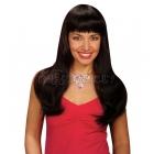 Женский парик,  чёрный, длинный, прямой, с чёлкой