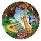 šķīvji ar attelu. Tema - Safari, 22.8 cm, 8 gab