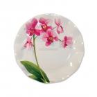 Тарелки  с рисунком Розовая орхидея, 22см, 10 шт
