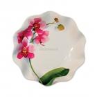 Тарелки с рисунком Розовая орхидея, 19см, 10 шт
