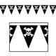 Бумажная гирлянда   пиратский флаг   3,7м