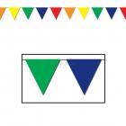 Вымпелы, гирлянда из многоцветных виниловых флажков  9,15 м