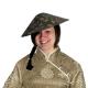 Āzijas saules cepure ar tresēm