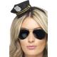 Мини шляпка полицейского, черная, жетон