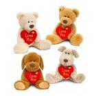 Медвежонок, собачка  с сердечком 25 см