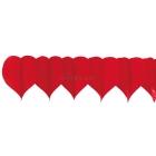 Бумажная декорация на день Валентина, гирлянда из сердец, 0.17x3.6 м