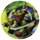 šķīvji ar attelu. Tema - Bruņurupuči Nindzjas, 22.8 cm, 8 gab