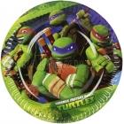 šķīvji ar attelu. Tema - Bruņurupuči Nindzjas, 18 cm, 8 gab