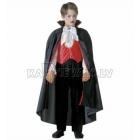 Костюм Вампира (128см) - рубашка с жилетом, галстук-бабочка, брюки, плащ