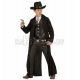 Костюм Гангстера, (140см), черный - длинный плащ и жилетка