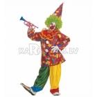 Костюм Веселого Клоуна, (128см), рубашка с большим воротником,  брюки, шляпа