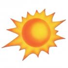 Солнышко, бумажная декорация, 60см