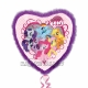 """Liels folijas hēlija balons ar spalvām """"Mans Mazais Ponijs"""", sirds formas, izmērs 81 cm"""