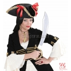 Pirātu zelta krāsas zobena kaklarota un pieskaņoti auskari