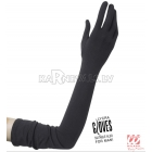 Перчатки с ликрой, черные, 60 см