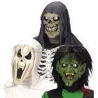 Маска для Хэллоуина Ужас, 1 шт., три вида