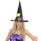 Шляпа ведьмы со вставками из атласа и бархата