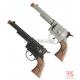 Kovboja pistole, 1 gab., pelēkā vai melnā krāsā