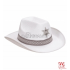 Белая шляпа шерифа, фетр