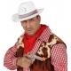 Balta šerifa cepure, filcs