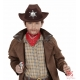 Kovboja cepure, brūna ar šerifa zvaigzni  (bērniem)