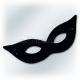 Karnevāla maska, melna SPĀRE