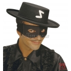 Karnevāla melna maska Zorro